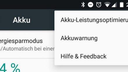 Android 7.1.2 Akkuwarnung Titel