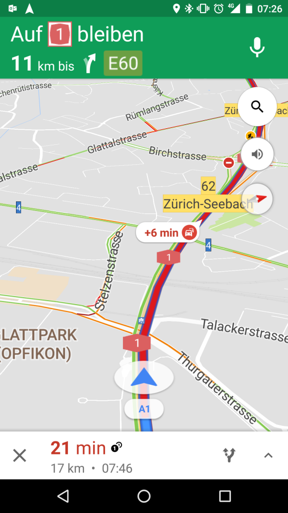 Google Maps Navigation Stau