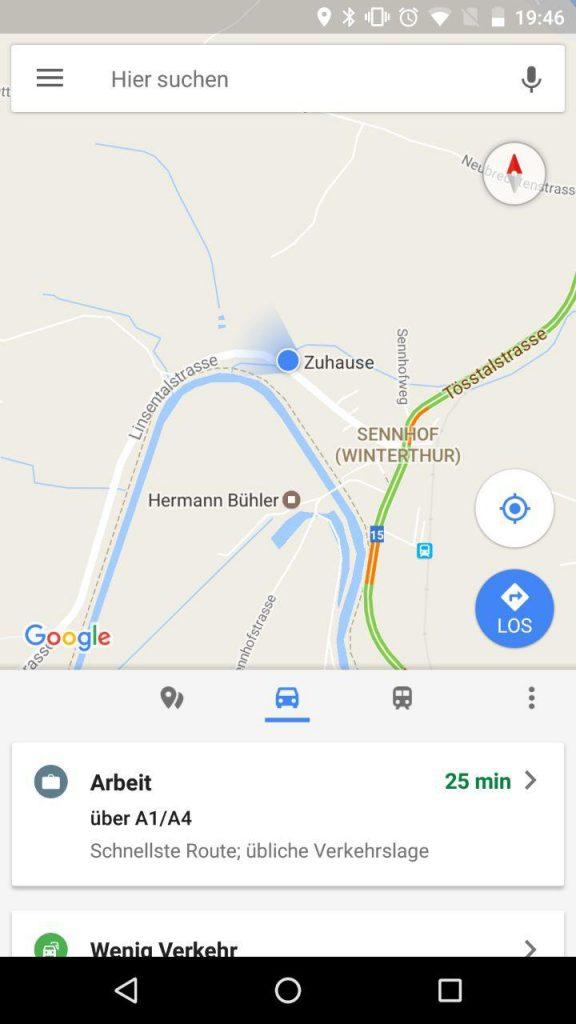 Google Maps Startseite
