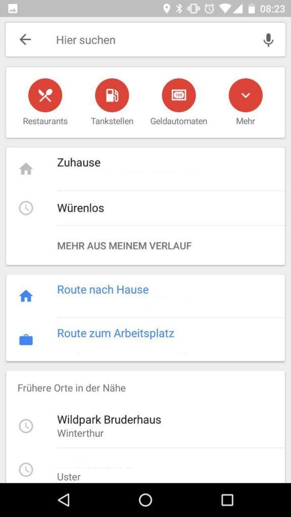 Google Maps Suche