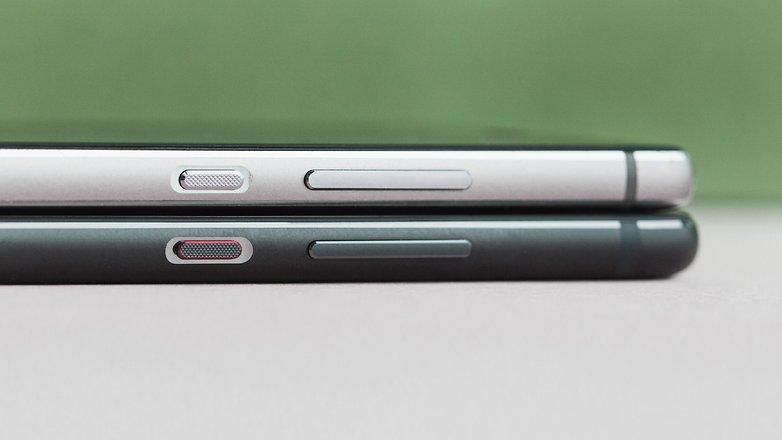 Huawei P10 gegen Huawei P9 Dicke