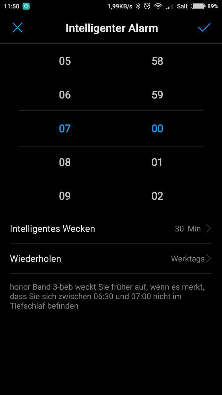 Wecker Honor Band 3