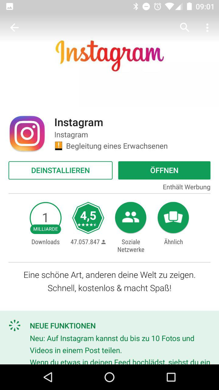 Play store android instagram