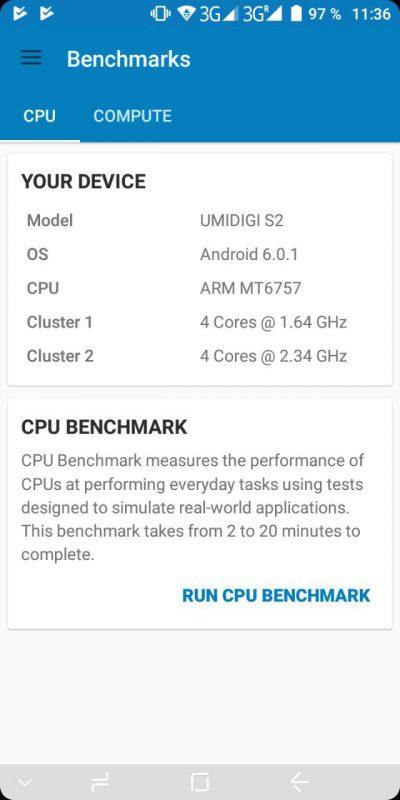 UMIDIGI S2 Test Benchmark