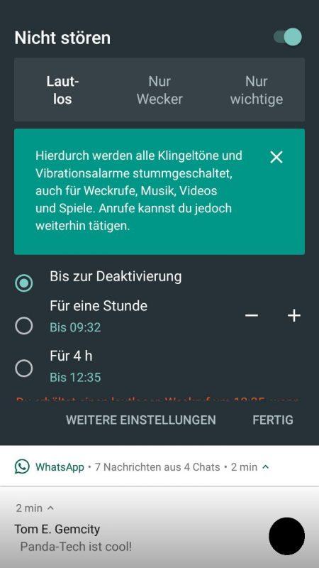 Nicht stören Stock Android 7.1.2