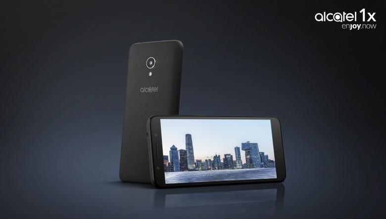 Smartphone von vorne und hinten in Schwarz