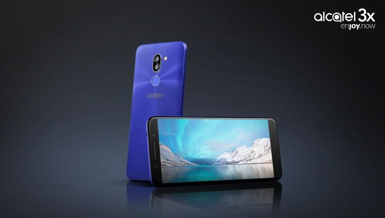 Smartphone vorne und hinten dunkelblau