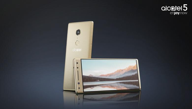 Smartphone vorne und hinten in Gold